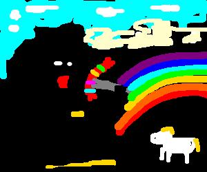 Batman eats at Rainbowland