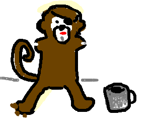 monkey pirate with no arms