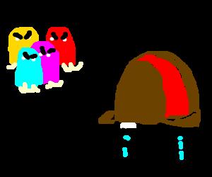 Pacman ghosts make Elmer Fudd cry