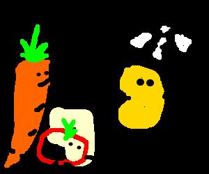 Potato winnig a vegetable race