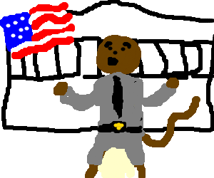 First monkey president gives State of the Union