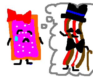 Poptart lady cries over lack of fancy bacon
