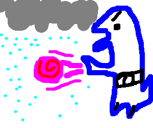 it always rains on blue dino's pink hadoken