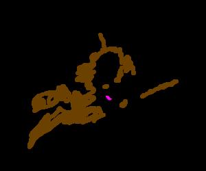 pedobear flying like superman with his buddies