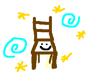Non-existent chemical wizards pacify a chair