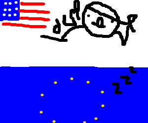 European Union dreams of Derpy fat America