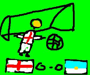 England goalkeeper prevents San Marino goal