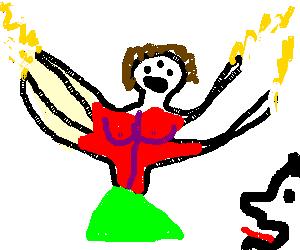 Deity smites the heathen
