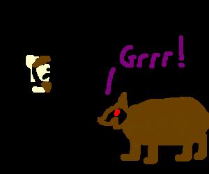 Zangief wrestling a bear