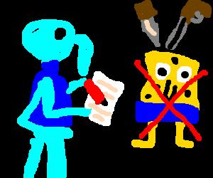 Squidward writes hate mail about Spongebob