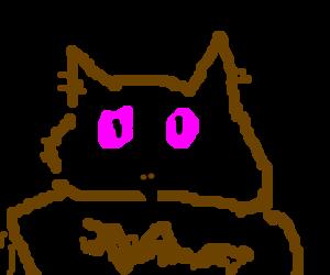 pink-eyed owl