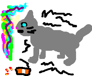 Cat wirh Parkinson under drug influence