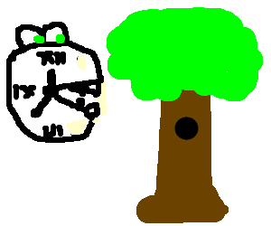 time eating a tree