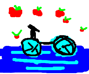 Water-cycle rains apples