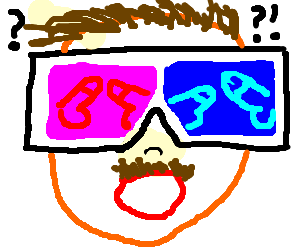 bald and moustachioed dwarf with glasses - Drawception