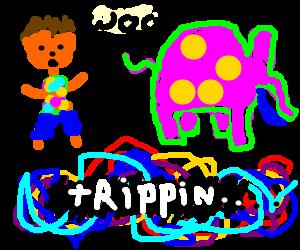 hippie took LSD