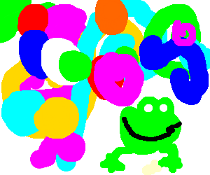 psychedelic frog