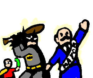 Batman And Robin Plan To Kill Mayor with woodbat