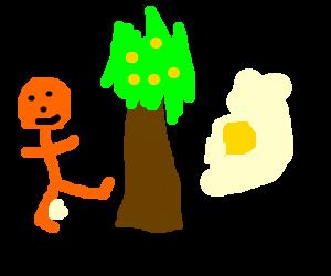 Kick tree, get lemon.