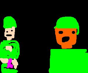 Wanking soldier vs orange shaded soldier