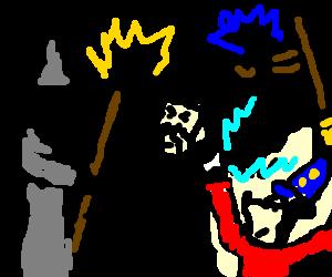 Gandolf vs Dumbledore vs Sorcerer Mickey