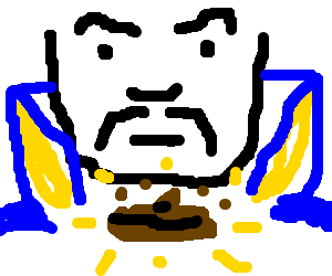 Evil sorcerer conjurs uncleanable turd