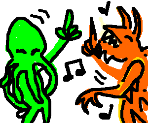 Cthulhu and Tarrasque dance off