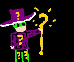 Pimp Riddler shows off his new cane