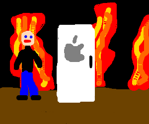 Steve Jobs in hell trying to sell ifreezer