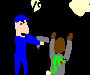 White cop arresting Samuel L Jackson