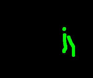 bowlegged man fights alien from the movie Alien