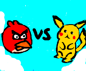 Angry birds VS Pokemon!