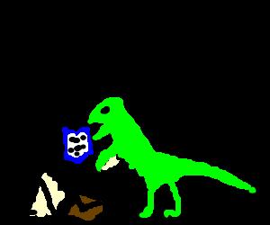 A velociraptor ate my homework