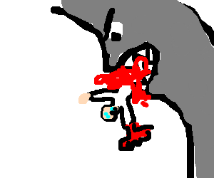 Lobster-hand man is eaten by a wall