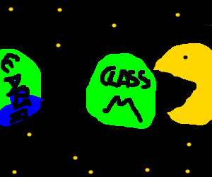 Epic PacMan eats Class M planet before Earth!