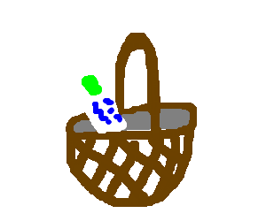 Lotion in a basket