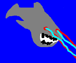 sharks with frickin laser beams drawception
