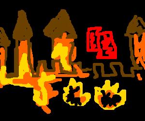 Fire Ants assault Golden Castle