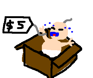 babies for sale in a box