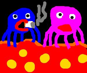 Octopus after sex...