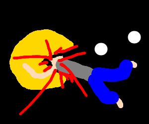 Pacman devouring someone