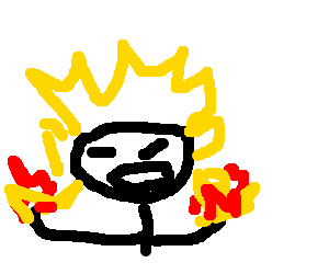 %u0CA0_%u0CA0 super saiyan with FIRE HANDS