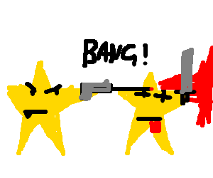 Don't bring a knife to a star fight