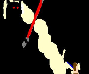 giant ant v faceless caveman, gentle saber duel