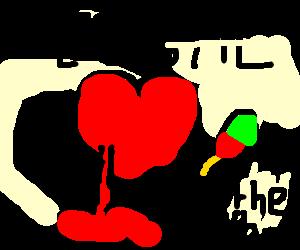 equal-slashing, rythm loving bloody heart