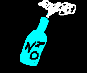 a bottle with not much nitrous oxide left