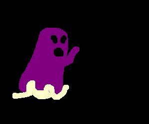 A purple ghost says hi!