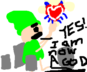 Link finds the master heart, is now invincible!