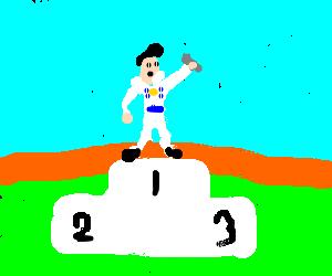 elvis wins a medal