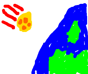 Cheese Meteor falling to earth!!